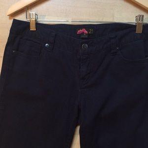 Forever 21 Navy Skinny Pants - Size 28